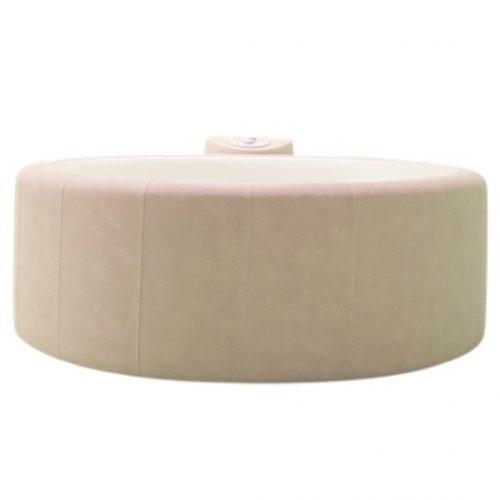 almond portable hot tub